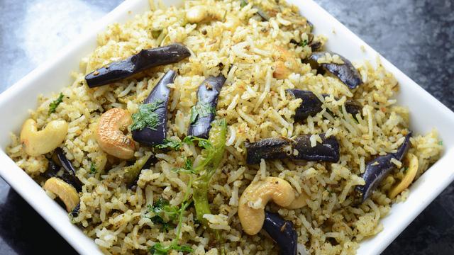 Brinjal rice (vangi bath)