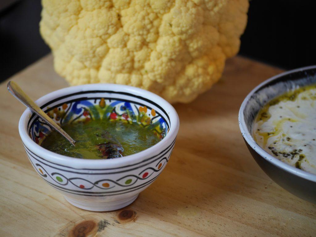 Cauliflower Leaves Chutney Recipe - Zero Waste Cooking
