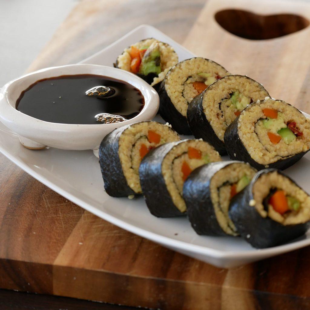 Vegan No Rice Sushi (Millet Recipe)