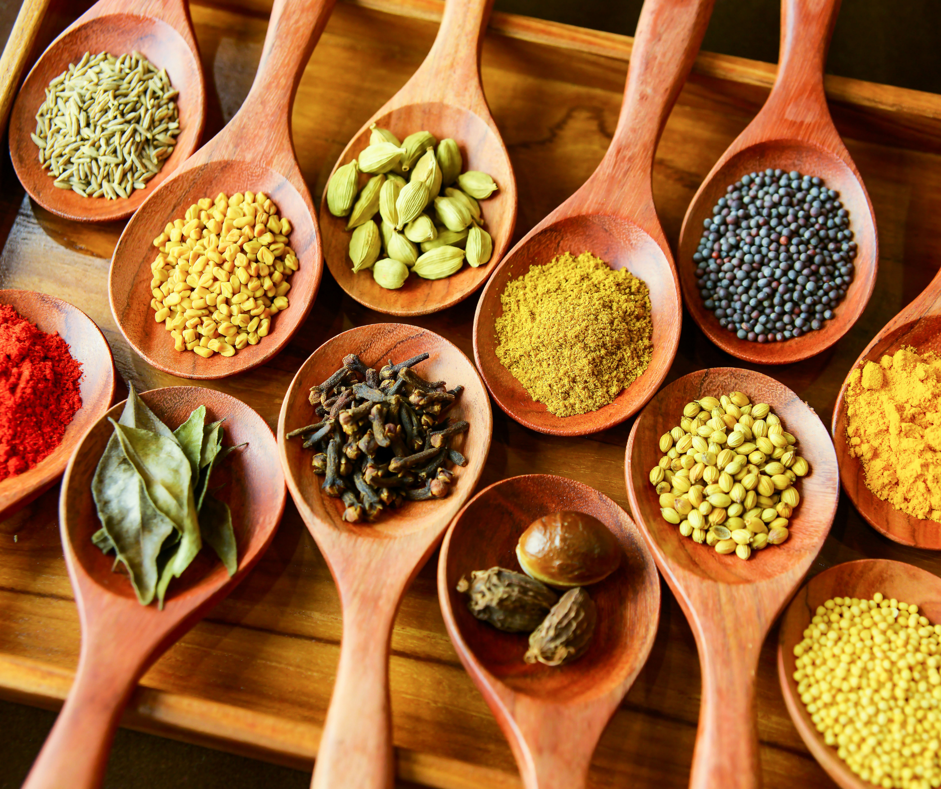 Which spices are used in Indian cooking